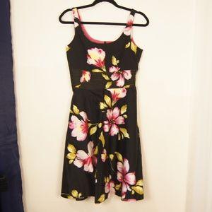 Donna Ricco Black Pink & Green Floral Sundress 4